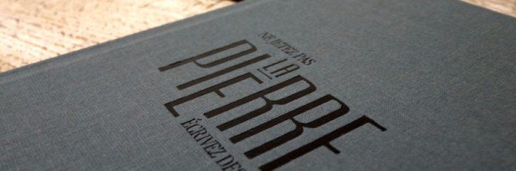 La jeune marque Le Papier Fait de la Résistance lance un carnet en poudre de pierre.