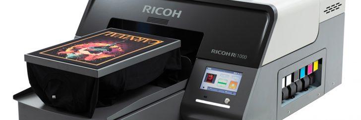 Ricoh lance son imprimante directe sur textile Ri 1000.