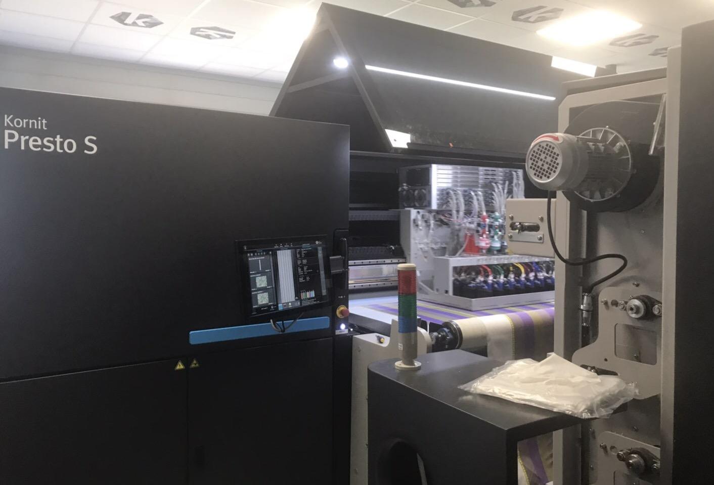 La société Brodelec s'est équipée d'une machine d'impression numérique textile Kornit Presto S.