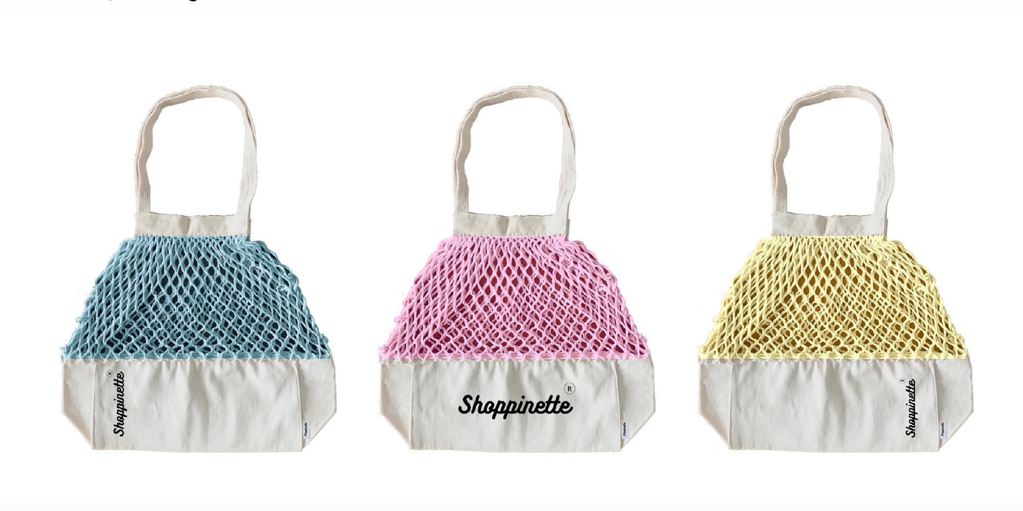 Avec son modèle déposé, Shoppinette fait son entrée sur le marché des sacs promotionnels.